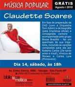Show GRÁTIS Claudette Soares sábado 14/08