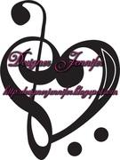 Estampa- vetorização coração