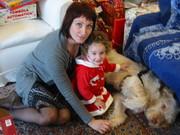 """Natale 2010 con  Zia, nipote ALICE e """"bau"""" Fred"""