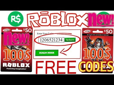 How To Redeem Free Roblox Gift Card Codes 2019
