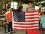 感念美國保護下的本土台灣人-在自家門口插上 USA & USMG flags 運動