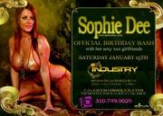 Sophie Dee xxx birthday bash in Hollywood
