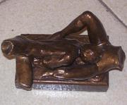 Escultura em durapox com verniz brilhante