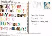 Mail-art by Natasha Jabre (Richmond, Virginia, USA)