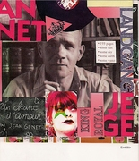 Erni Baer collage in mail-art show catalog by Grigori Antonin (Minnesota, USA)