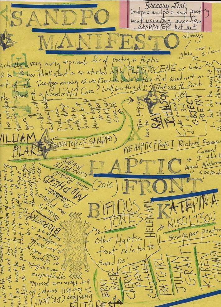 Sandpo Manifesto for haptics Katerina Nikoltsou, Bifidus Jones, Erni Baer, etc.