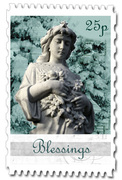 Blessings Angel stamp