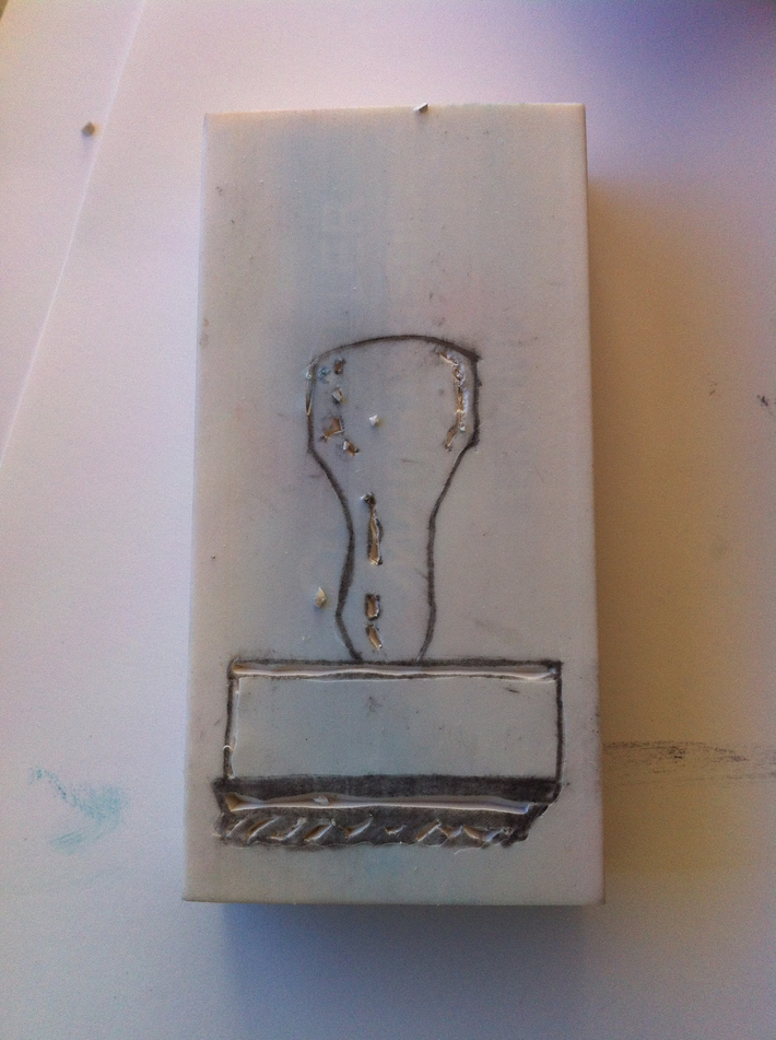 Carving of Rubber Stamp
