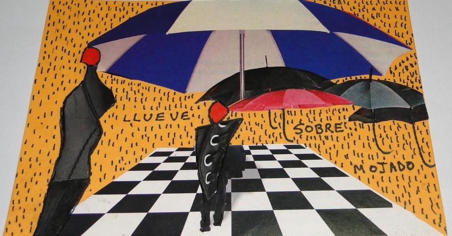Llueve poesia visual