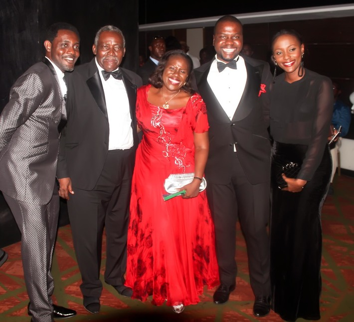 The honoured actor Olu Jacob, Wife and friends