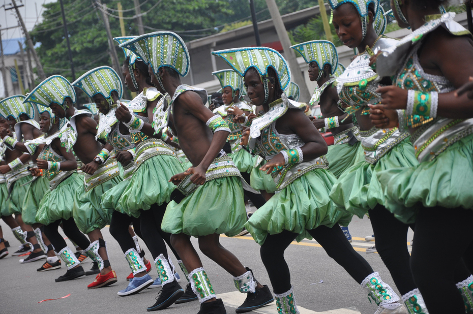 Lagos 2014 Carnival with Fashola and Minister of Tourism- 1