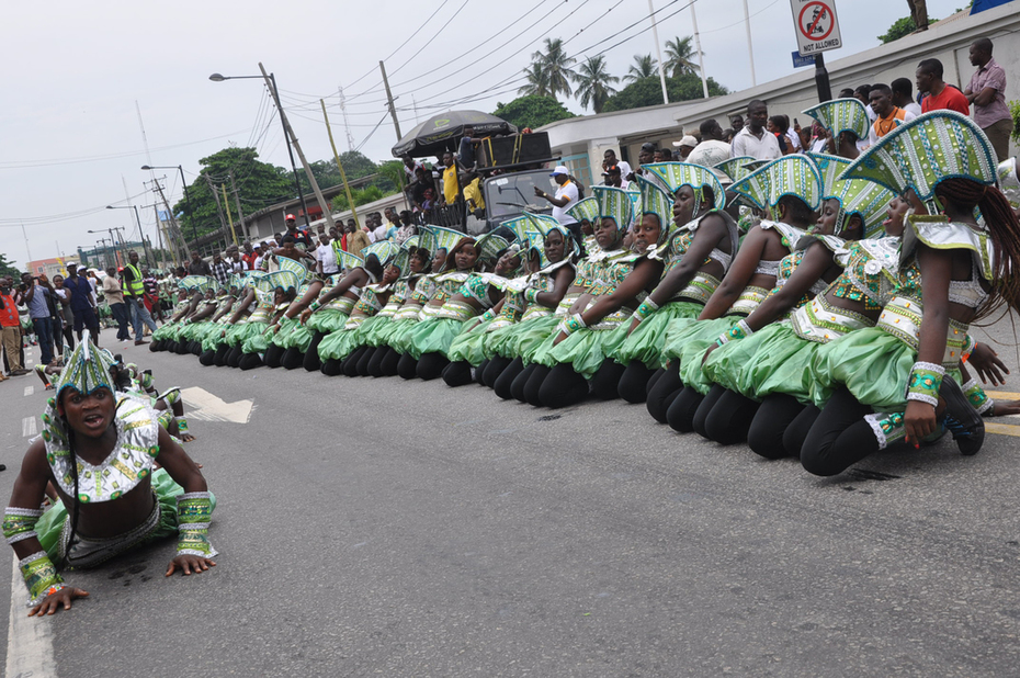 Lagos 2014 Carnival with Fashola and Minister of Tourism- 4