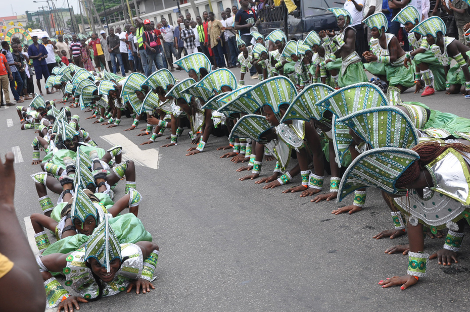 Lagos 2014 Carnival with Fashola and Minister of Tourism- 6