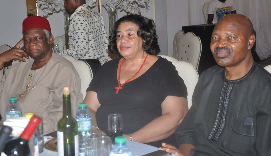 Chief Emeka Anyaoku, Aremo Osoba, Kayode Fayemi, Mimiko at  Dinner Reception honour Prof. Jide Osuntokun in Lagos- 4