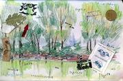 """Quiet Creek"" collage of the city Kremenchug, Ukraine, 2012"