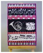 Musical fabric 'card' from Christine Jones