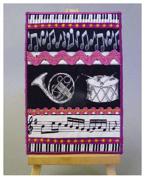 Musical fabric 'card' from Christine Jones