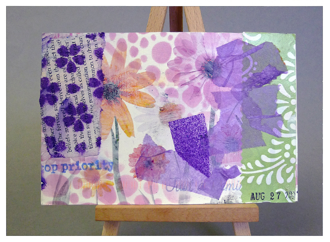 Beautiful flowery collage from Terrie Purkey
