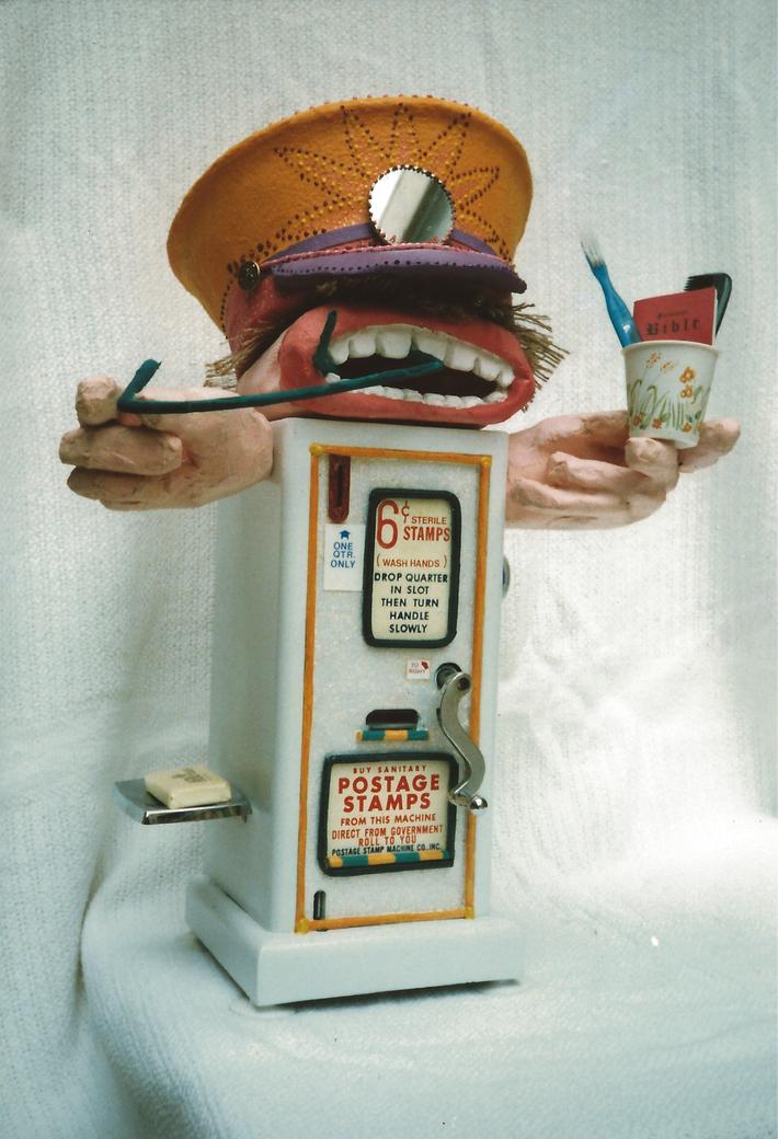 Crackerjack's Sanitary Stamp Machine