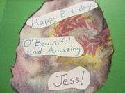 Inside of Jess' Birthday Card