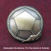 Dodecaeder Ouroborous Pin