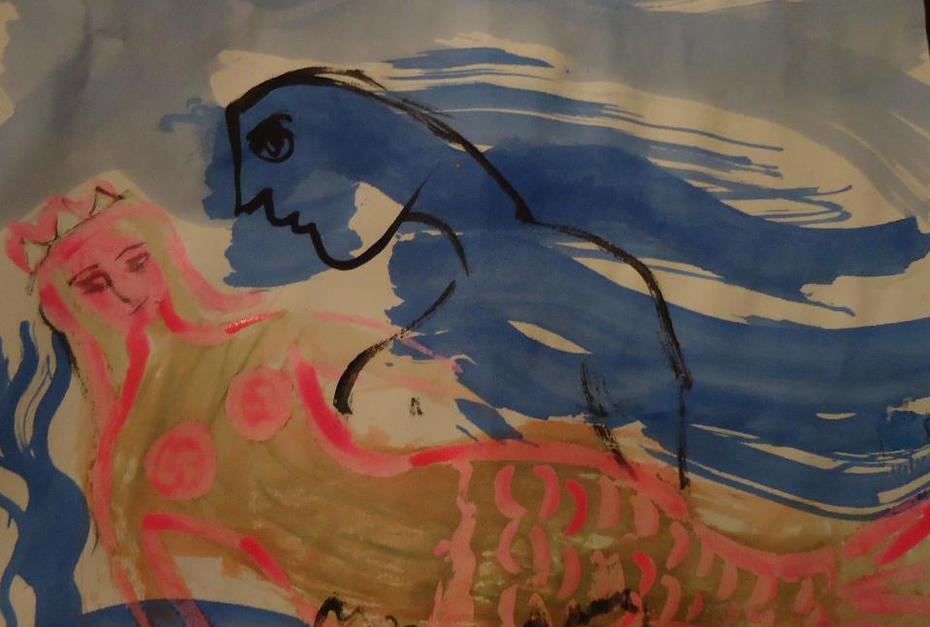 mail art mermaid