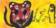 pandas mail art