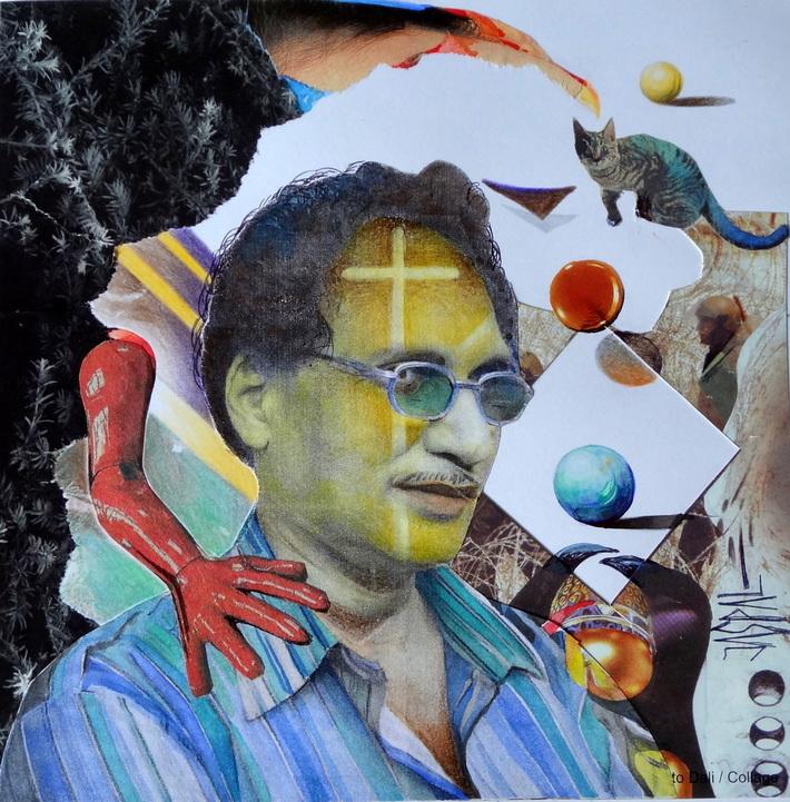 Self Portrait with Yellow Cross
