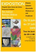 Poterie, Gobelins, Aquarelles, Peinture sur soie, Sculptures.