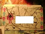 Black, Magenta, and Teal Mushroom Envelope