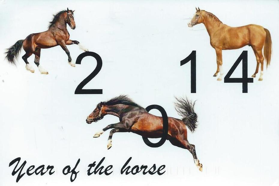 Year of the horse from Eric Bruth 01-10-2014