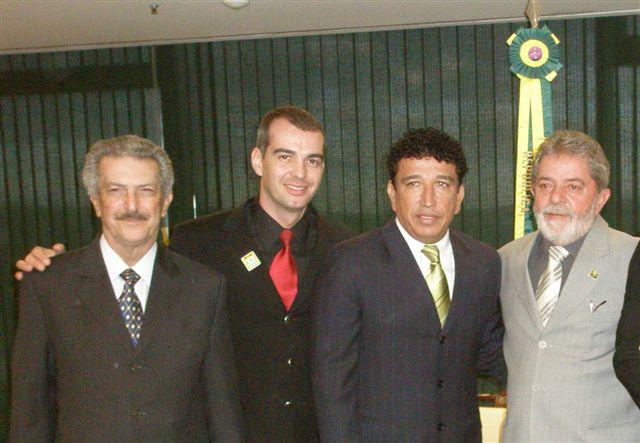 DF - Sen. Tuma, Promotor C. Fortes, Sen. Magno Malta; Presidente Lula
