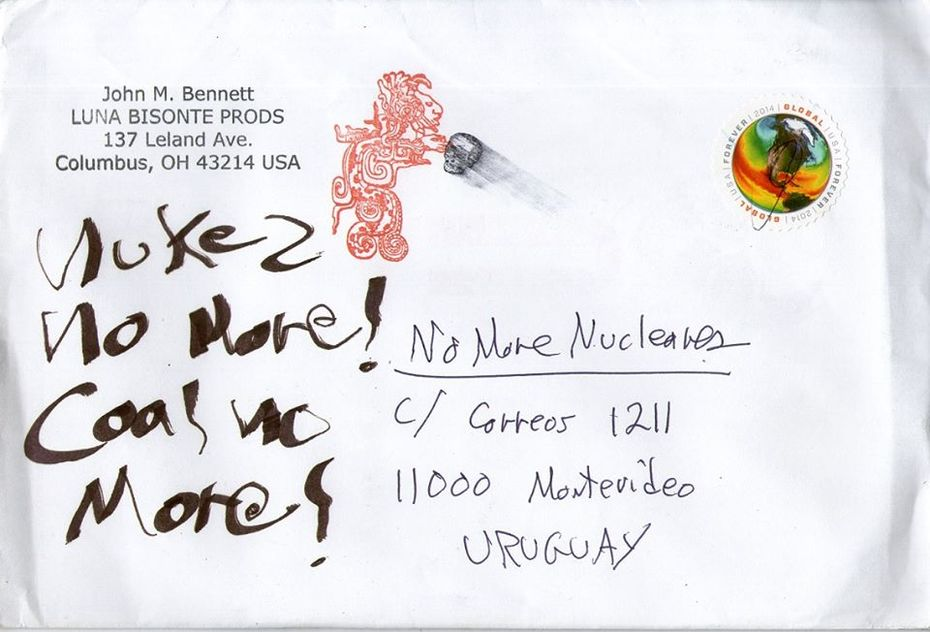 Hello dear friends MAil ART CALL FROM URUGUAY NO MORE FUKUSHIMA NO MORE CHERNOBYL NO MORE POWER PLANT free size and technique-deadline in january first, 2016 Exihbition and catalog organization by Cle