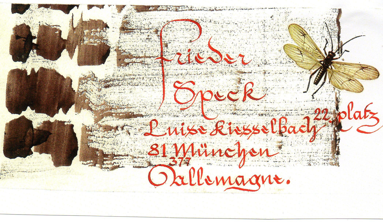 sent to Frieder Speck