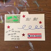 June 10, 2016 air mail postcard