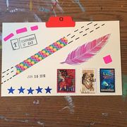 June 10 2016 postcard pink feather