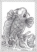 Fish and sea, drawn after Gerrie's fish and sea