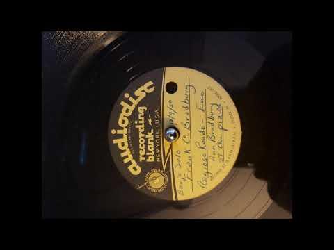 Frank Bradbury 5 String Banjo Ragioso Rondo 12-9-1950