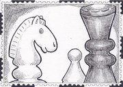Out: Chess Horse, Queen, Pawn to Ryosuke Cohen