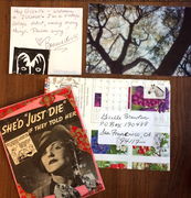 Mail-art received from Bonnie Diva