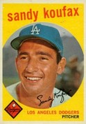 1959 Topps Collectible   Sandy Koufax