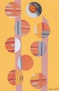 In: Orange p.o. box circles