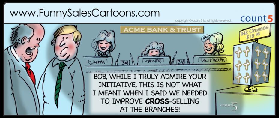 Cross_Selling_Bank_Cartoon