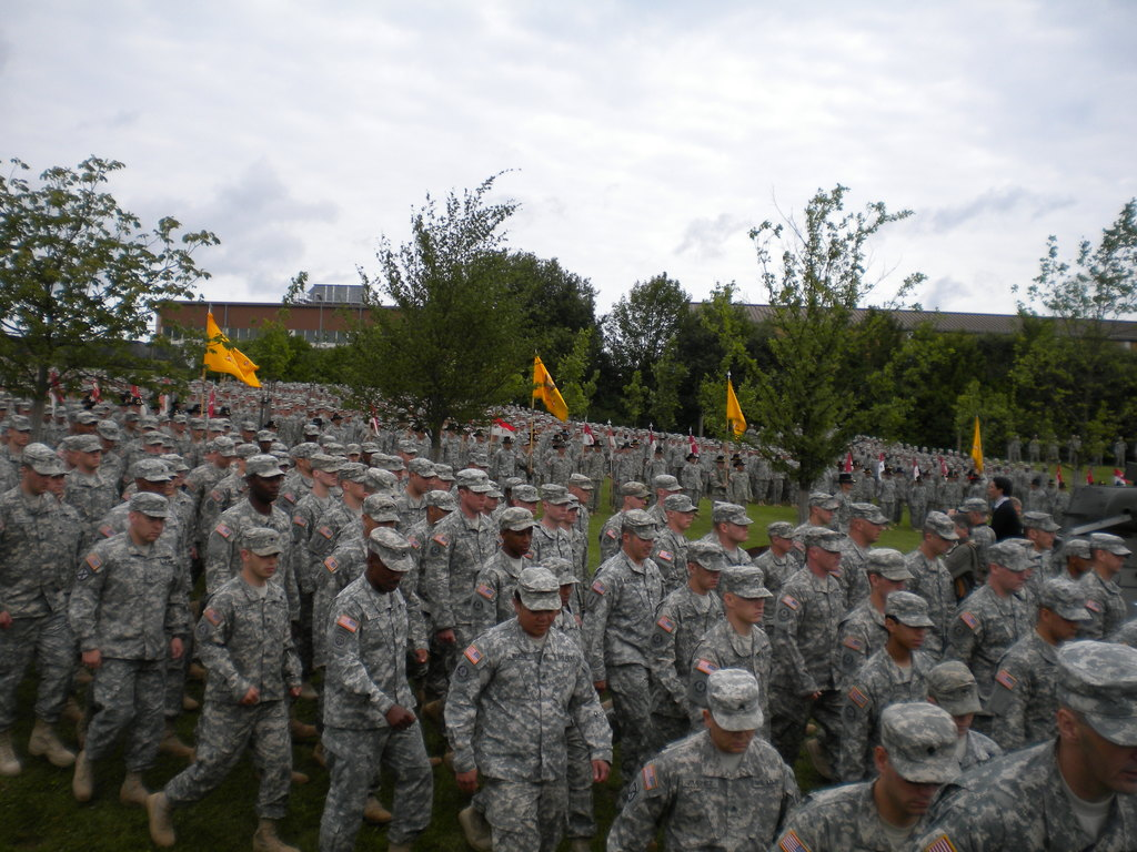Troopers leaving the service