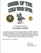 Cold War Spur Certificate