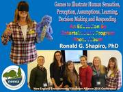 Games to Illustrate Human Sensation, Perception, Assumptions, Learning, Decision Making and Responding Photo Album.  New England Environmental Education Alliance (NEEEA), Litchfield CT, November 5, 2