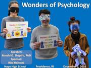 Wonders of Psychology Photo Album. Hope High School, Providence RI, December 5, 2016.