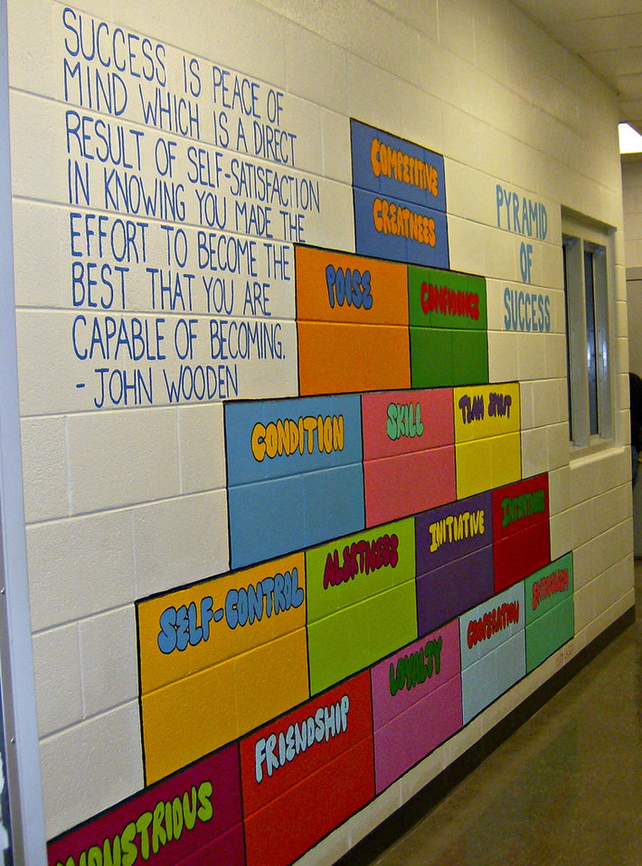 John Wooden's Pyramid of Success Mural