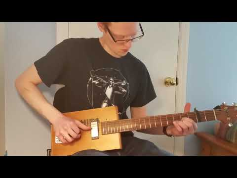 C.Baron 6 String Cigar Box Guitar Demo