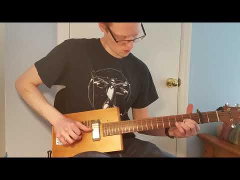 C.Baron 6 String Cigar Box Guitar Demo